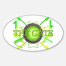 The Gate 4 Oval Decal