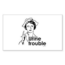 Urine Trouble ~ Rectangle Decal