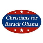 Christians for Barack Obama bumper sticker