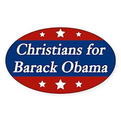 Christians for Barack Obama bumper sticker