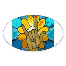 I love you Oval Sticker (50 pk)