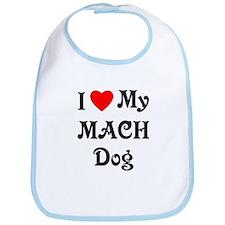 I Love My MACH Dog Bib
