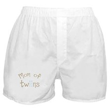 Mom of Twin Boys Boxer Shorts
