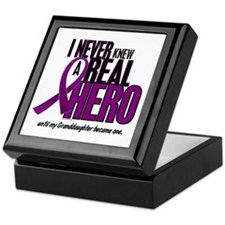Never Knew A Hero 2 Purple (Granddaughter) Keepsak