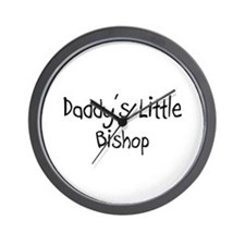 Daddy's Little Bishop Wall Clock