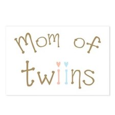 Mom of Twins Boy Girl Postcards (Package of 8)