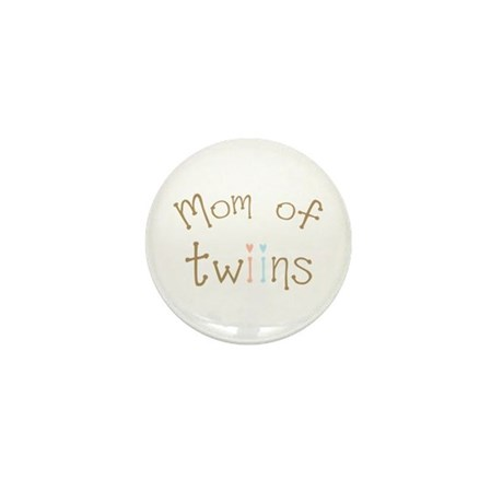 Mom of Twins Boy Girl Mini Button