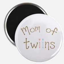 """Mom of Twins Boy Girl 2.25"""" Magnet (100 pack)"""