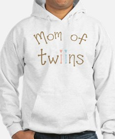 Mom of Twins Boy Girl Hoodie