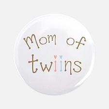 "Mom of Twins Boy Girl 3.5"" Button"