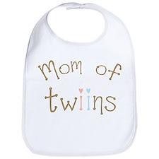 Mom of Twins Boy Girl Bib