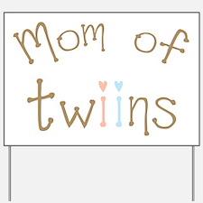 Mom of Twins Boy Girl Yard Sign