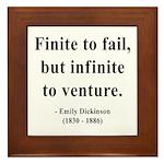 Emily Dickinson 8 Framed Tile