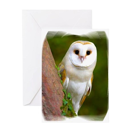 Owl450c Greeting Cards