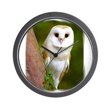 Unique Barn owl Wall Clock