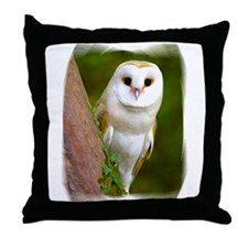 Cute Barn owl Throw Pillow