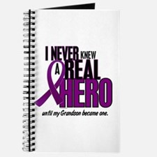 Never Knew A Hero 2 Purple (Grandson) Journal