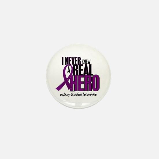 Never Knew A Hero 2 Purple (Grandson) Mini Button