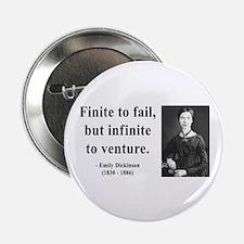 """Emily Dickinson 8 2.25"""" Button"""