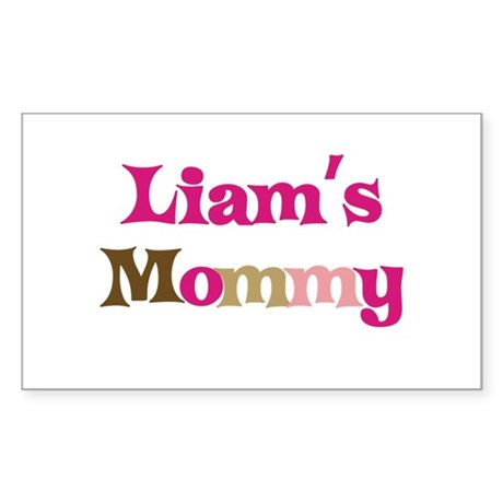 Liam's Mommy Rectangle Sticker
