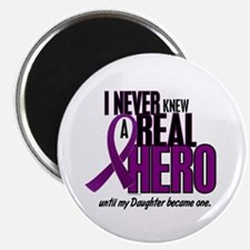 "Never Knew A Hero 2 Purple (Daughter) 2.25"" Magnet"