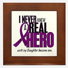 Never Knew A Hero 2 Purple (Daughter) Framed Tile