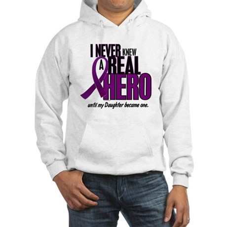 Never Knew A Hero 2 Purple (Daughter) Hooded Sweat