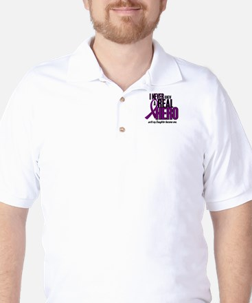 Never Knew A Hero 2 Purple (Daughter) Golf Shirt