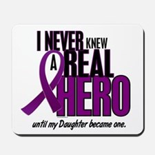 Never Knew A Hero 2 Purple (Daughter) Mousepad