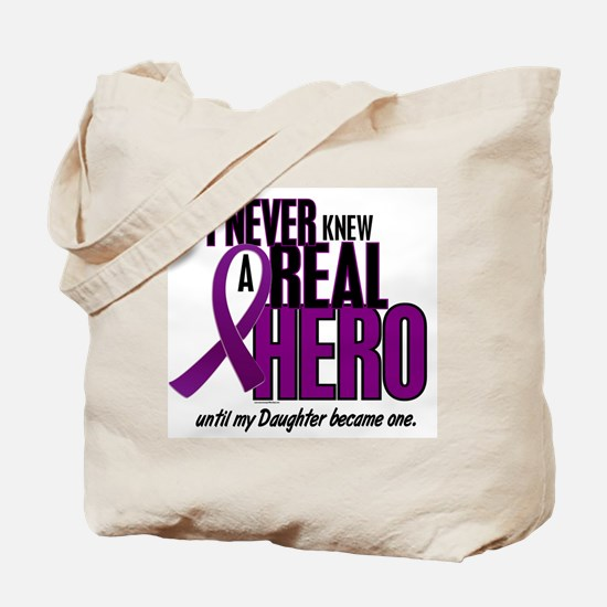 Never Knew A Hero 2 Purple (Daughter) Tote Bag