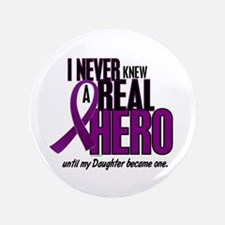 """Never Knew A Hero 2 Purple (Daughter) 3.5"""" Button"""