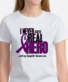 Never Knew A Hero 2 Purple (Daughter) Tee