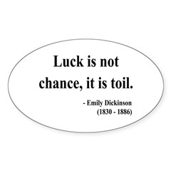 Emily Dickinson 7 Oval Decal