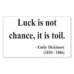 Emily Dickinson 7 Rectangle Sticker