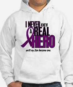 Never Knew A Hero 2 Purple (Son) Hoodie