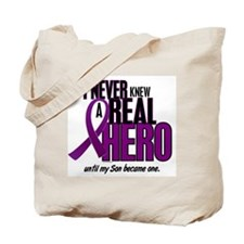 Never Knew A Hero 2 Purple (Son) Tote Bag