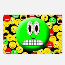 Frighten Mood Smiley Postcards (Package of 8)