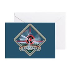 Buzzkutt Airplane Greeting Card