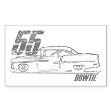 '55 Bowtie Distressed Rectangle Decal