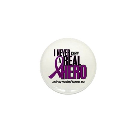Never Knew A Hero 2 Purple (Husband) Mini Button (