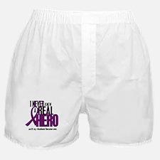 Never Knew A Hero 2 Purple (Husband) Boxer Shorts