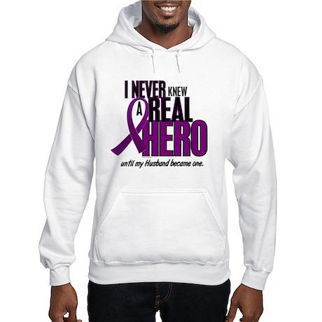 Never Knew A Hero 2 Purple (Husband) Hooded Sweats