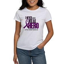 Never Knew A Hero 2 Purple (Husband) Tee