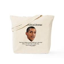 """Obama's Strategy"" Tote Bag"