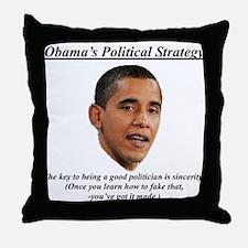 """""""Obama's Strategy"""" Throw Pillow"""