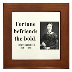 Emily Dickinson 6 Framed Tile