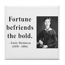 Emily Dickinson 6 Tile Coaster