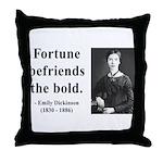 Emily Dickinson 6 Throw Pillow