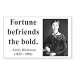 Emily Dickinson 6 Rectangle Sticker