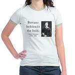 Emily Dickinson 6 Jr. Ringer T-Shirt